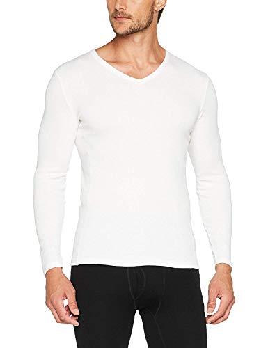 Damart tee-Shirt Manches Longues Thermolactyl Bioactif Camiseta térmica, Blanco (Blanco), L para Hombre