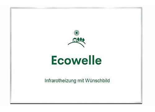 Ecowelle Eigenes Bild & Foto Infrarot Heizung mit Herstellergarantie - Made in Germany - Infrarotheizung mit Wünschbild (500 Watt, Alufarbige Alurahmen)