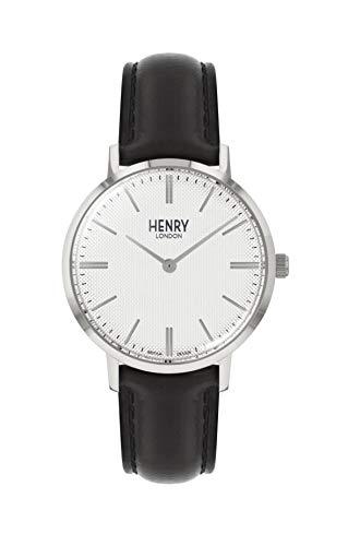 Henry London Orologio Analogico Quarzo Unisex Adulto con Cinturino in Pelle HL34-S-0341