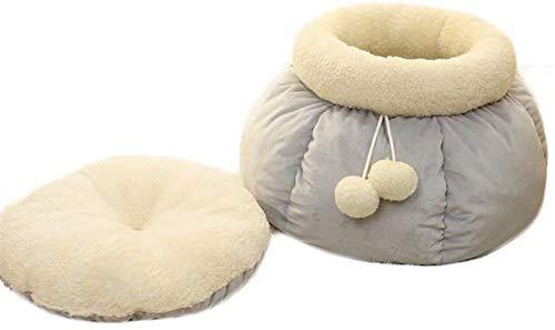 Lujo Cama de perro con litera de gato - Cama de perro de gato lavable cómoda suave con removible, almohada adecuada para gatos y perros pequeños, medianos, gris rosa11.8 x18.8 ( Color : Gray )