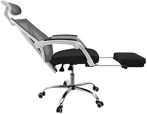 Silla de mesa Silla de mesa Silla de computadora Silla de escritorio con soporte lumbar Silla de reclinación de oficina ergonómica con reposapiés Altura trasera altura Ajustable Reposacabezas de asien