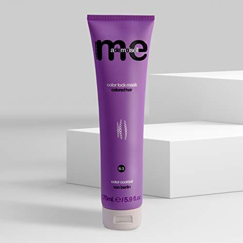 MeMademoiselle Color lock Mask für gefärbtes Haar I Keratin Haarkur mit Walnussextrakt & UV-Filter I Intensivkur professionelle Haarpflege für coloriertes Haar Made in Germany I Repair Kur (175 ml)