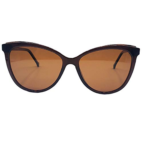 Oculos Sol Feminino Autentic gatinho marrom dourado