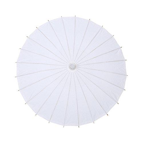 Sombrilla de papel de estilo clásico, Papel Parasol Papel blanco Paraguas para el banquete de boda Decoraciones nupciales Fotografía Exhibición de arte(Radius 42cm)