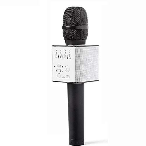 Bluetooth handheld microfoon draadloze karaoke speaker draagbare home speaker familie verjaardagsfeestje KTV zingende kinderen cadeau speelgoed,Black