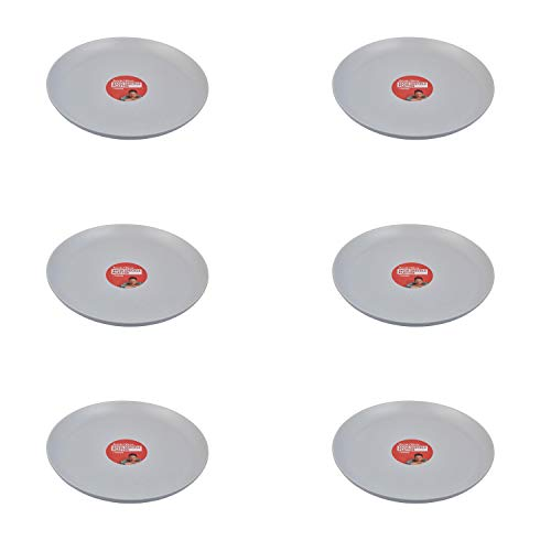 colourliving Jamie Oliver Speiseteller Teller Speckle hellgrau 34 cm Essteller Jumbo Dinner Plates Grillteller (6 Stück)