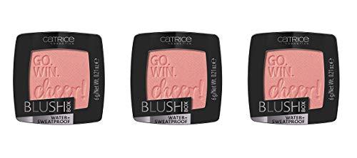 Catrice Blush Box, Rouge, Nr. 020 Glistening Pink, pink, schimmernd, vegan, wasserfest, Nanopartikel frei, 3er Pack (3 x 6g)