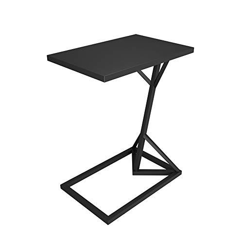Tables HAIZHEN Pliable d'appoint en métal, Petite de Salon, d'appoint de Type C, Petite Basse, Noir, Or, Blanc (45 * 30 * 58cm) Stations de Travail informatiques