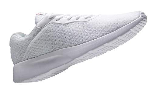 AONVOGE Laufschuhe Herren Schuhe Outdoor Walkingschuhe Straßenlaufschuhe Tennis Turnschuhe Sneaker Joggingschuhe Fitness Leichtgewichts Sportschuhe, Weiß 46 EU