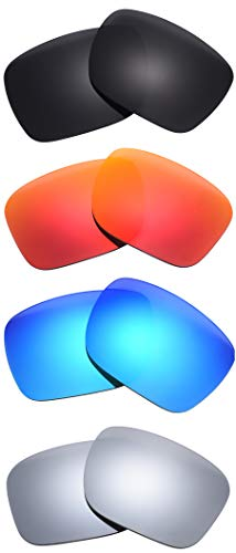 Pack of 4 Pairs Polarized Replacement Lenses for Oakley Holbrook Sunglasses NicelyFit
