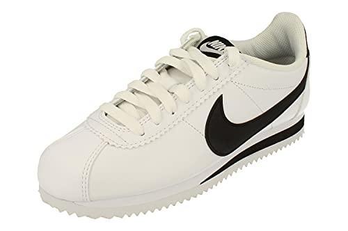 Nike Donne Classic Cortez Leather Trainers 807471 Sneakers Scarpe (UK 4.5 US 7 EU 38, White Black White 101)