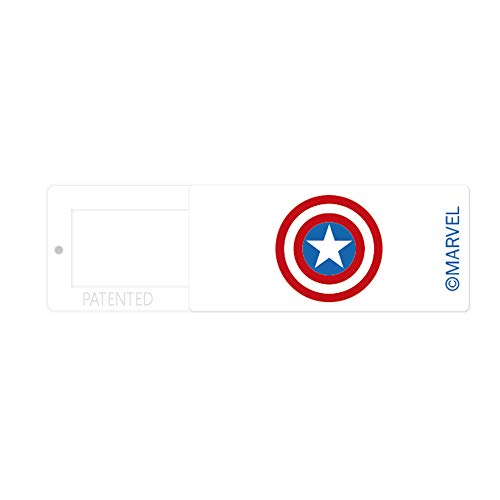 Funda para cámara Web de Marvel Original para Ordenador portátil, Ordenador, Funda de cámara Delgada para privacidad, Material ABS, diseño único, 13 x 30 x 2 mm