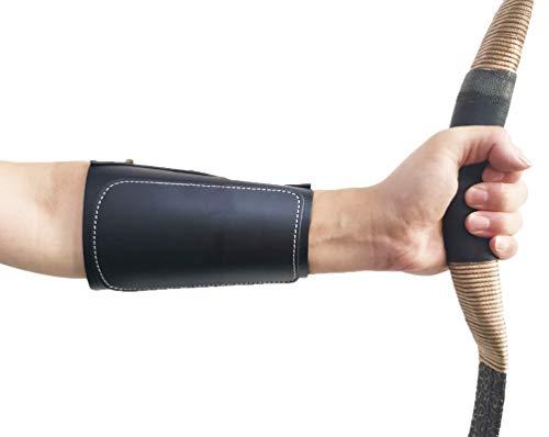 Protector de brazo de tiro con arco de Nideen, protector de antebrazo ajustable para brazos de protección (negro)