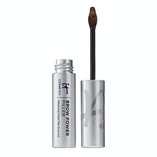 IT Cosmetics Brow Power Filler, Universal Taupe - Volumizing Tinted Fiber Brow Gel - Instantly Fills, Shapes & Sets Your Brows - Waterproof Formula Lasts Up To 16 Hours - 0.14 fl oz