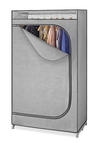 """Whitmor Clothes Rack with Cover Portable Wardrobe Clothes Closet with Hanging Rack – 36"""" W x 64"""" H x 1975"""" D – Perfect for Home Storage Room Dorm etc – Not for Outside Use - No-Tool Assembly"""