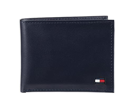 Tommy Hilfiger, portafoglio con portacarte, Blu (Navy), Taglia unica