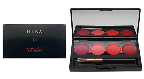 Hera Rouge Holic Shine Lip Palette 4 Lipsticks (#88 Secret Burgundy / #107 Pink Burgundy / #245 Coral Festa / #341 Amazing Red)