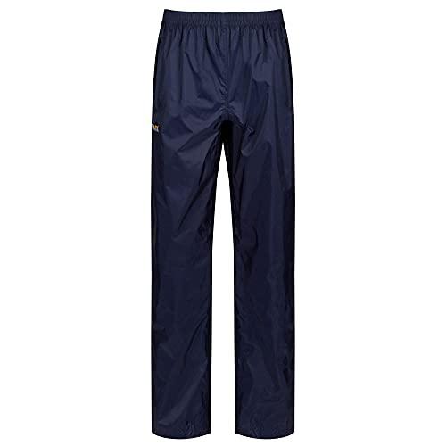 Regatta Damen Pack-it Leichte, Wasserdichte und Atmungsaktive Überziehhose, Blau (Midnight), Medium (38-40 EU)