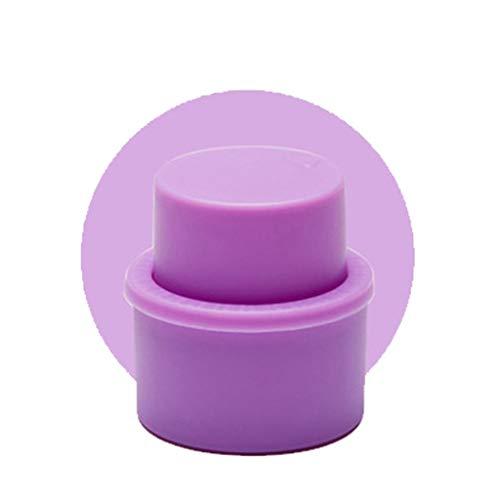 DONTHINKSO Fizz Keeper! Safe and Durable, Bottle Pump Caps,Bottle Stopper, Pump Bottle Dispenser Cap, Like A Wine Bottle Stopper-Purple