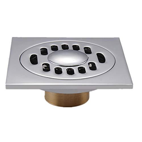 """Bodenablauf 4 """"bad Bodenablauf Zwei For Waschmaschine Platz Kupfer Dusche Waschbecken Ablauf Filter Abnehmbare Abdeckung für Badezimmer Toilette Küche ( Color : Chrome color , Size : 100*100MM )"""