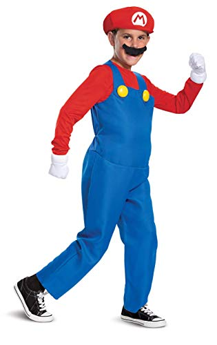 Childs Deluxe Super Mario Brothers Mario Costume Large 10-12
