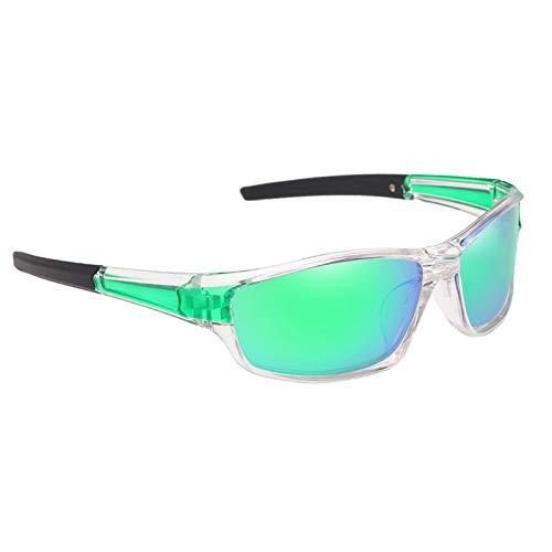 sharprepublic Gafas de sol polarizadas para deportes al aire libre con estilo, gafas de protección UV para conducción en bicicleta - Verde claro