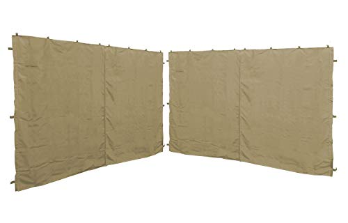 QUICK STAR 2 Paneles Laterales con Cremallera 300x195cm para pabellones 3x3m Pared Lateral Beige RAL 1001
