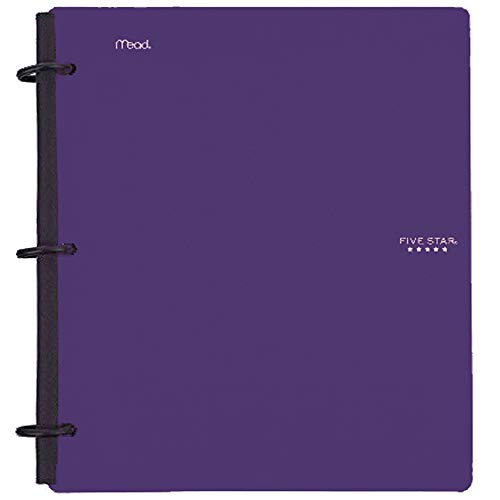 Five Star Flex Hybrid NoteBinder, 1-1/2 Inch Binder with Tabs, Notebook and 3 Ring Binder All-in-One, Purple (72518)