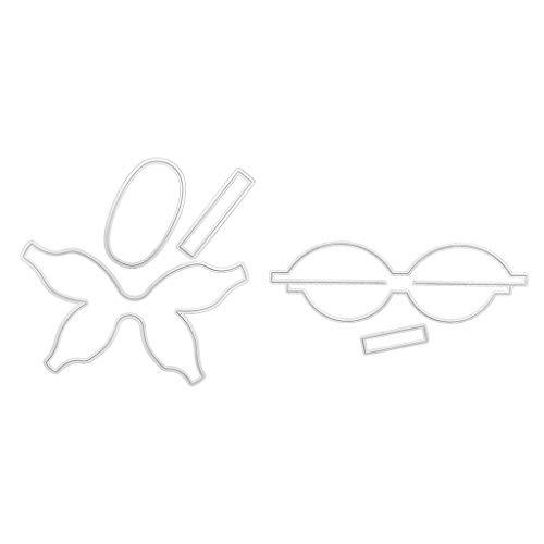 COLUDOR Krawatte Stanzformen Schablone DIY Scrapbooking Album Stempel Papier Karte Präge Dekor