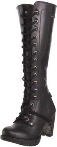 New Rock M.TR005-S1 - Botas de Cuero para Mujer, Color Negro, Talla 37