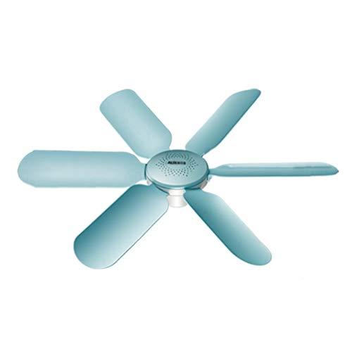 Ventilador de techo, ventilador de techo silencioso pequeño para viento fuerte, aspa de ventilador de 6 aspas, diámetro de 42 cm, con cable de extensión de sincronización de 2 m/A / 42cm