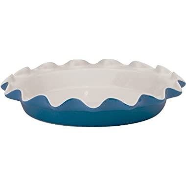 HIC Harold Import Co. Rose Levy Beranbaum's Perfect Pie Plate, 9-Inch, Ceramic, Blueberry