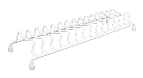 Delfinware 2101 W Plate Rack, Metal, White, 39.5 x 13 x 6 cm