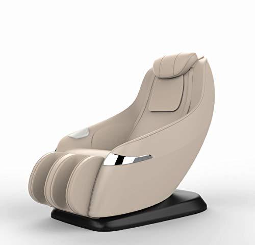 Luxus Massagesessel Atlanta Leder beige mit Zero Gravity Rollentechnik Massage Heizung Swingfunktion Sessel für Wohnzimmer günstig cremeweisser bequemer Fernsehsessel Ledersessel