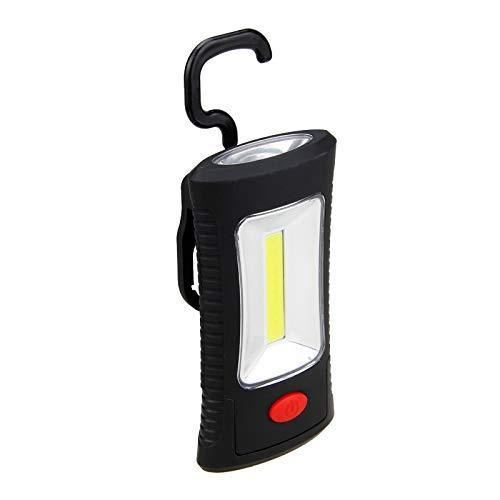 COB Torche 1 W Watt Soft Grip Compact Lampe de poche avec sangle de transport