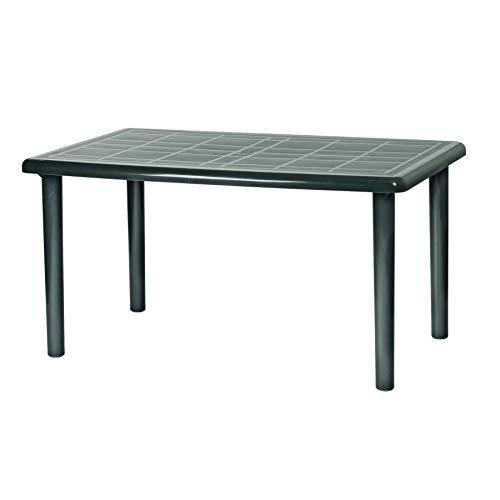Resol Olot Outdoor Rectangular Garden Table - Green Plastic - 140 x 90 cm