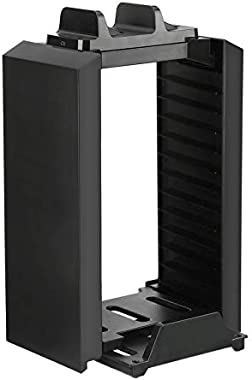 ZicHEXING Multifunctional Storage Vertical Stand Kit for Ps4 Pro/Ps4 Slim/Ps4/X-One S Space-Saving Portable Durable Simple Bl