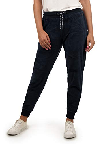 DESIRES Nikita Damen Sweathose Velours-Sweatpants Relaxhose Regular- Fit, Größe:L, Farbe:Insignia Blue (1991)