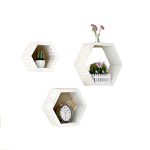 shelf Lyl Renovation - Partición de pintura hexagonal para pared (color: blanco)