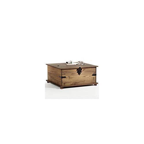 Mexico Möbel Truhentisch TEQUILA mit 5 Schubladen in braun, 92x87x45cm - 3