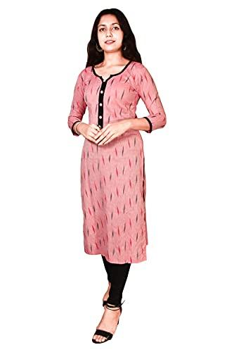 Riyashree Women Cotton Straight A-Line Kurta Kurti for Women Stylish Latest KURTIGR 021 033