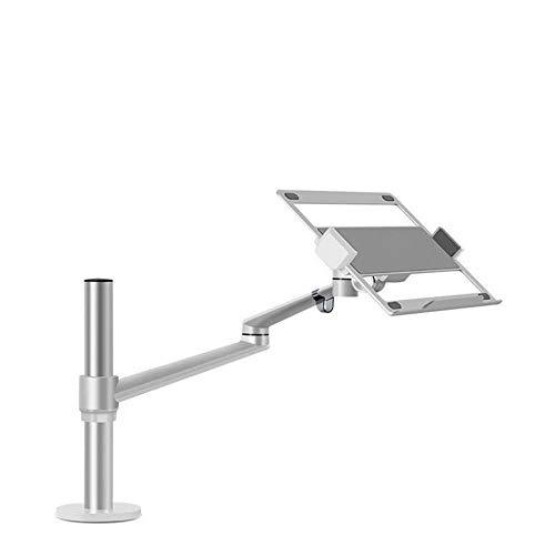 Solid Notebook Stand Laptop Computer Desktop Standing Office Roterende Verhoog Ondersteuning Frame Flat Stand Lifting Universeel Spel Deze Mobiele Werkbank Nieuwe Stabiel (Kleur : Zilver)