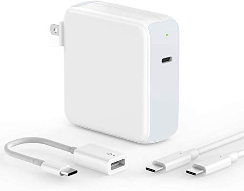 SZPOWER 87W USB C Charger Power Adapter for MacBook Pro 15, 16, 13 inch, New MacBook air 2020/2019/2018, iPad Pro 12.9, 11, Thunderbolt 3 Power Supply, LED, USB 3.0 Adapter, 6.6ft 5A USB C to C Cord