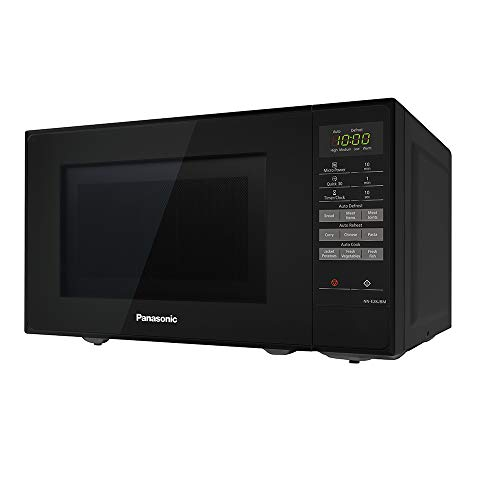 Panasonic NN-E28JBMBPQ Compact Solo Microwave Oven with Turntable, 800 W, 20 Litres, Black