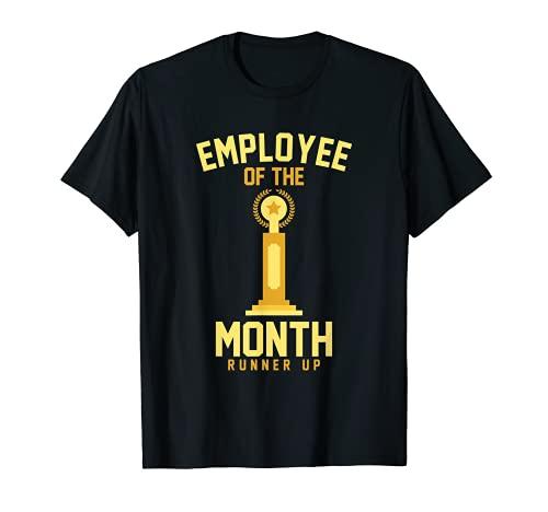 Empleado del Mes Runner Up Funny Job Trophy Camiseta