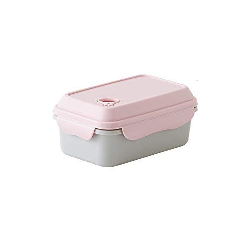 LHTCZZB Aspirateur portable étanche Boîte de rangement avec couvercle PP Matériel de fruits frais et de légumes Boîte Adapté for Réfrigérateur Micro-ondes Chauffage alimentaire Bento Box (Rose)