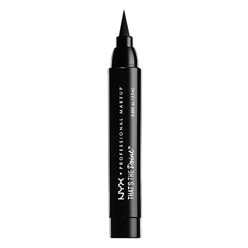 NYX Professional Makeup That's The Point Eyeliner - Eyeliner-Kollektion mit 7 tiefschwarzen Stiften, verschiedene Applikatoren, 1,1 ml, Put A Wing On It