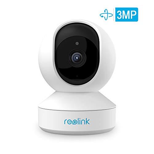 Reolink WiFi Beveiligingscamera, 1296P Babymonitor, Draai/ Kantel met Tweeweg Audio, nachtzicht bewakingssysteem voor thuis, binnencamera E1