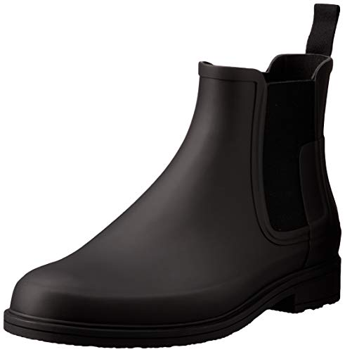 HUNTER Original Refined Dark Sole Chelsea Boots Black 10