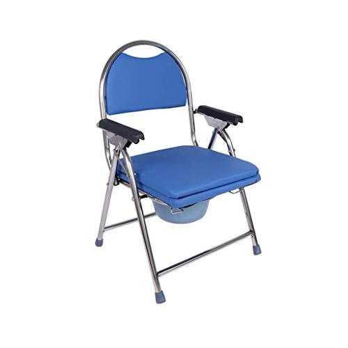 CHHD Toilettensitz für ältere Menschen behindertengerechter Toilettensitz Toilette zusammenklappbare Toilette für Dusche 55 * 52 * 90 cm